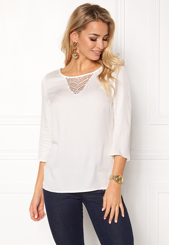bubbleroom-vila-sommi-34-sleeve-lace-top-snow-white